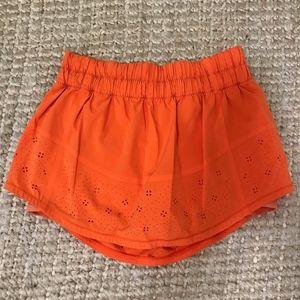 Lululemon Orange Skort, Size 6